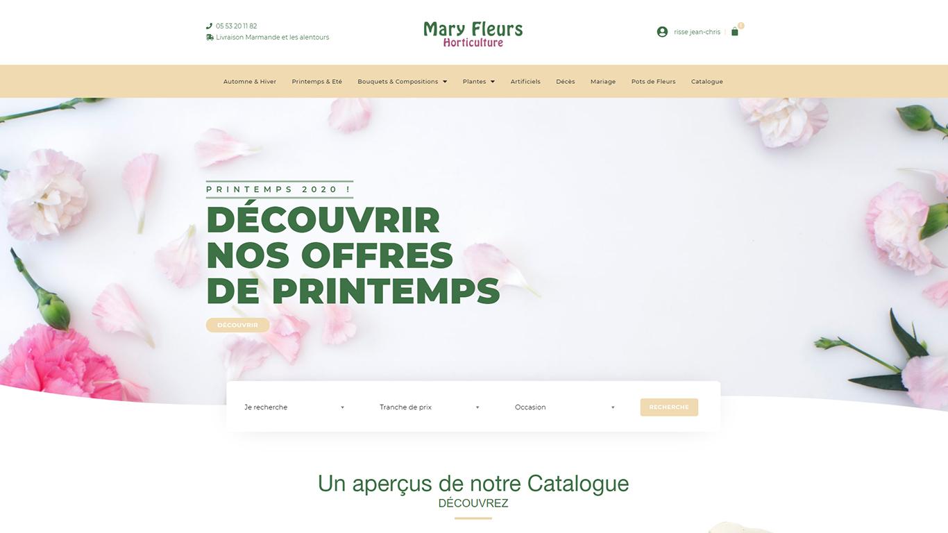 Mary Fleurs - Site web E-commerce
